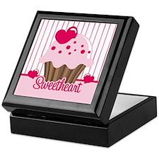 Sweetheart Cupcake Keepsake Box
