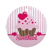 Sweetheart Cupcake Ornament (Round)