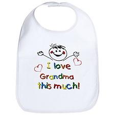 I Love Grandma (boy) Bib