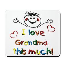 I Love Grandma (boy) Mousepad