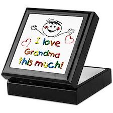 I Love Grandma (boy) Keepsake Box