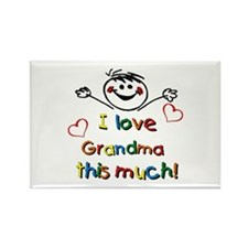 I Love Grandma (boy) Rectangle Magnet