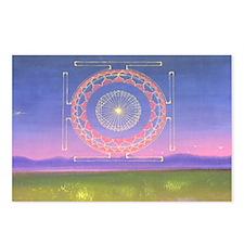 370.heart fire mandala Postcards (Package of 8)