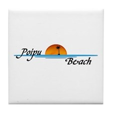 Poipu Beach Tile Coaster