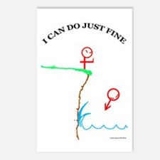 Just Fine! Postcards (Package of 8)
