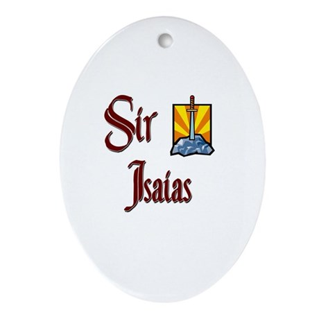 Sir Isaias Oval Ornament