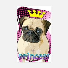 Pug Princess Rectangle Decal