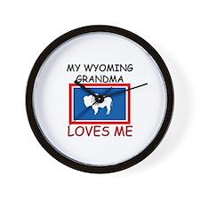 My Wyoming Grandma Loves Me Wall Clock