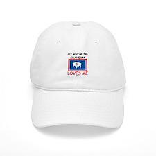 My Wyoming Grandma Loves Me Baseball Cap