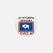 My Wyoming Grandma Loves Me Mini Button (10 pack)