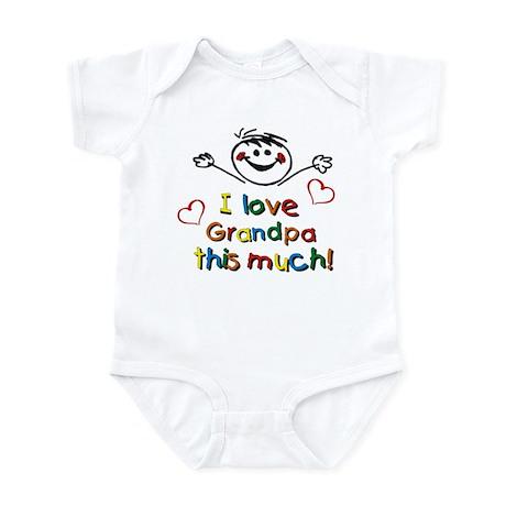 I Love Grandpa (boy) Infant Bodysuit