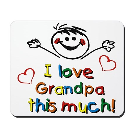 I Love Grandpa (boy) Mousepad