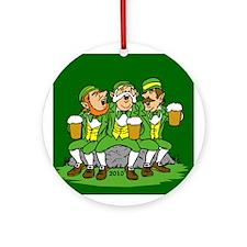 Irish Drinking Ornament (Round)