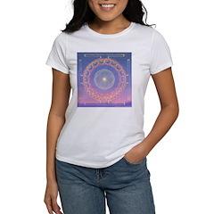 370a.heart fire mandala Women's T-Shirt