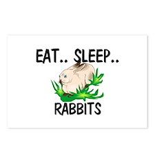 Eat ... Sleep ... RABBITS Postcards (Package of 8)