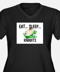 Eat ... Sleep ... RABBITS Women's Plus Size V-Neck