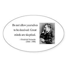 Nietzsche 3 Oval Decal