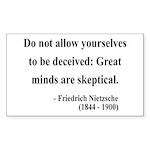 Nietzsche 3 Rectangle Sticker