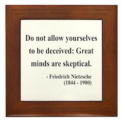 Nietzsche 3 Framed Tile