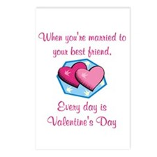 Valentine's Day is Every Day Postcards (Package of