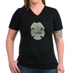 Fireman Women's V-Neck Dark T-Shirt