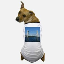 Portage Lake Lift Bridge Dog T-Shirt