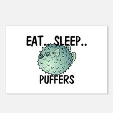 Eat ... Sleep ... PUFFERS Postcards (Package of 8)