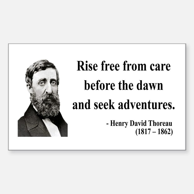 Henry David Thoreau 33 Rectangle Decal