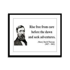 Henry David Thoreau 33 Framed Panel Print