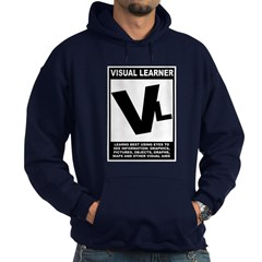 Visual Learner Hoodie (dark)