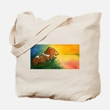 Bassett Hound at Sunrise Tote Bag