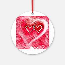 Hearts Illusion Ornament (Round)