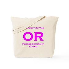OR Property pink Tote Bag