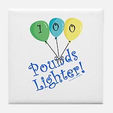 100 Pounds Lighter Tile Coaster