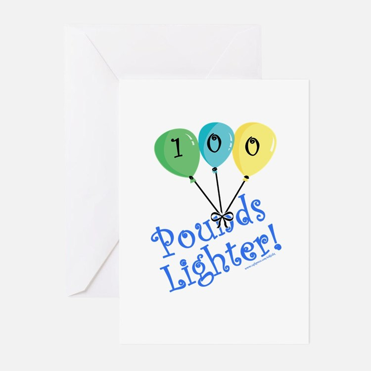 100 Pounds Lighter Greeting Cards (Pk of 20)