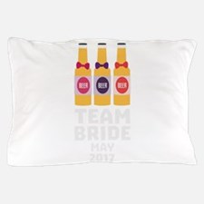 Team Bride May 2017 Cr39f Pillow Case