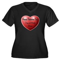 Whiners Valentine Women's Plus Size V-Neck Dark T-