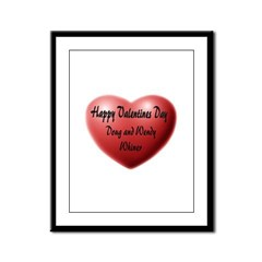 Whiners Valentine Framed Panel Print