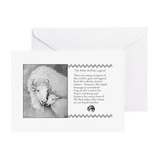 White Buffalo Legend ~ Greeting Card ~ Blank