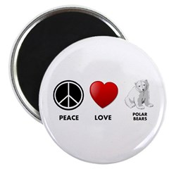 Peace Love Polar Bears Magnet