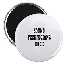 """SOUND TECHNICIANS ROCK 2.25"""" Magnet (10 pack)"""