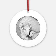 White Buffalo & Calf ~ Ornament (Round)