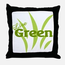 Live Green Throw Pillow