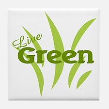 Live Green Tile Coaster