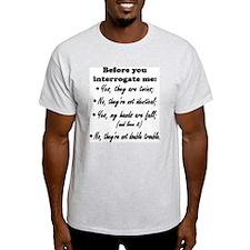 Twin Dad, Interrogation T-Shirt