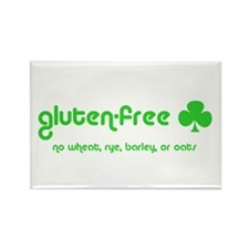 gluten-free (club) no wheat r Rectangle Magnet