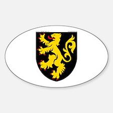 Belgium: Heraldic Oval Decal