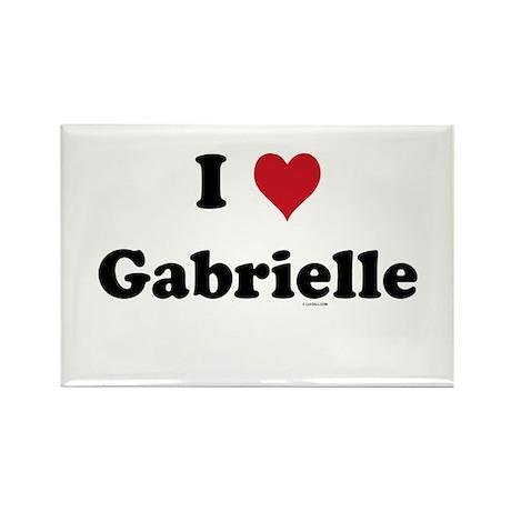 I love Gabrielle Rectangle Magnet