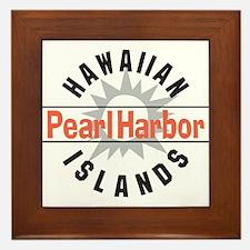 Pearl Harbor Hawaii Framed Tile