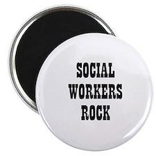 SOCIAL WORKERS ROCK Magnet